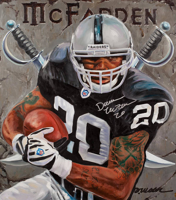 Darren Mcfadden Print featuring the painting Franchise by Jim Wetherington