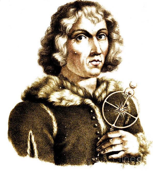 History Print featuring the photograph Nicolaus Copernicus, Polish Astronomer by Science Source
