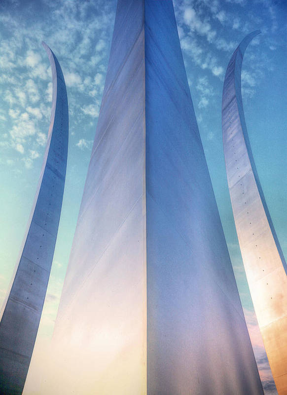 Usaf Print featuring the photograph Air Force Memorial by JC Findley