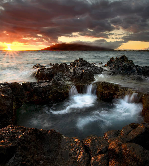 Sunset Print featuring the photograph Bubbling Cauldron by Mike Dawson