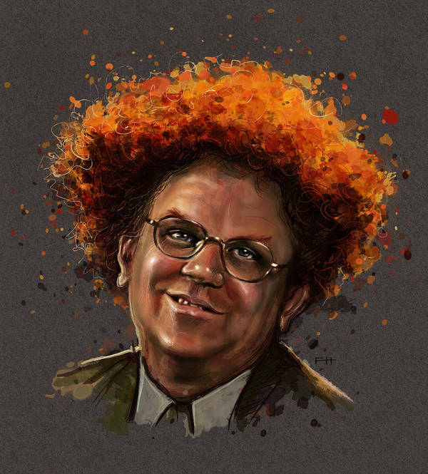 Dr. Steve Brule Print featuring the painting Dr. Steve Brule by Fay Helfer