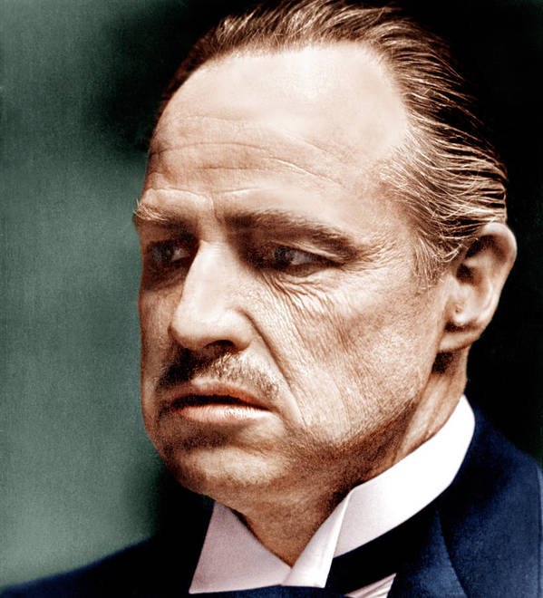 1970s Portraits Print featuring the photograph The Godfather, Marlon Brando, 1972 by Everett