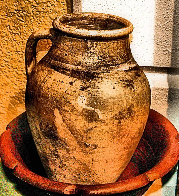 Old Print featuring the photograph Water Pitcher by Jimmy Ostgard
