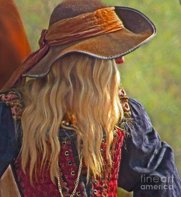 Lady Print featuring the photograph Female Pirate by Tom Gari Gallery-Three-Photography