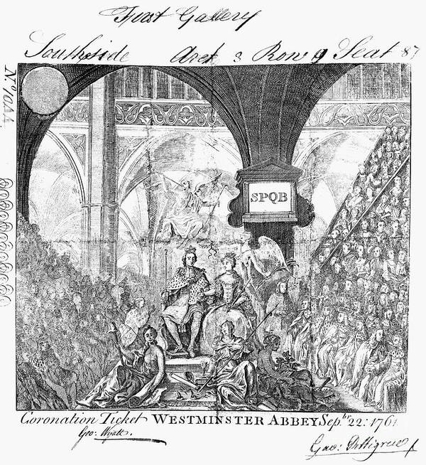 1761 Print featuring the photograph George IIi: Coronation, 1761 by Granger