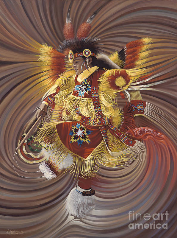 Sacred Print featuring the painting On Sacred Ground Series 4 by Ricardo Chavez-Mendez
