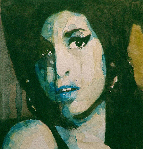 Amy Winehouse Print featuring the painting Amy by Paul Lovering