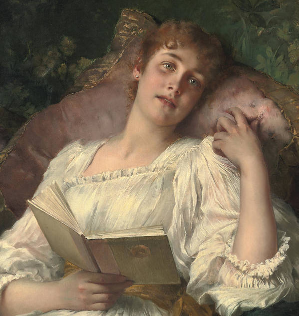 Daydreaming Print featuring the painting Daydreaming by Conrad Kiesel
