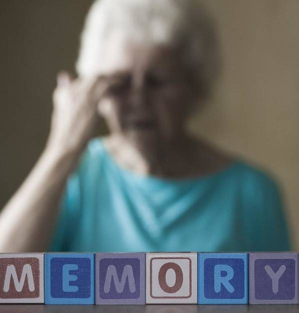 Aging Print featuring the photograph Alzheimer's Disease, Conceptual Image by Cristina Pedrazzini