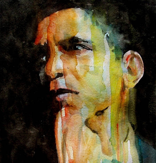 Barack Obama Print featuring the painting Obama by Paul Lovering