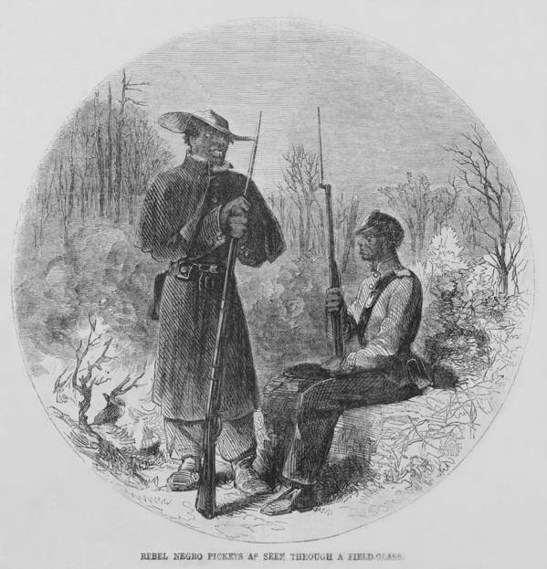 History Print featuring the photograph Fully Armed Confederate African by Everett