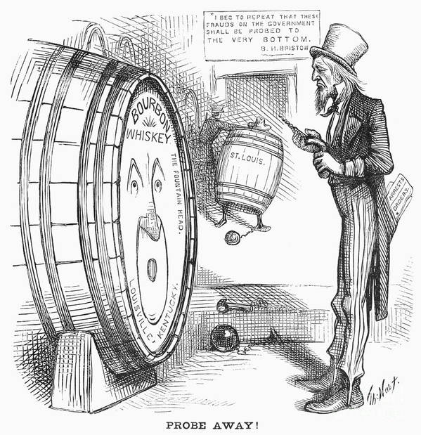 1876 Print featuring the photograph Whiskey Ring Cartoon, 1876 by Granger