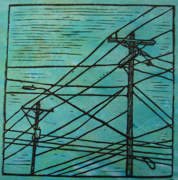 Power Print featuring the drawing Lines by William Cauthern