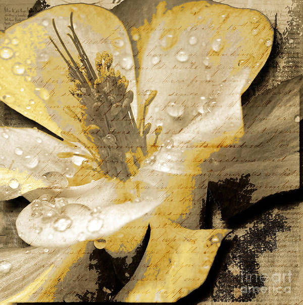 Print featuring the mixed media Beauty IIi by Yanni Theodorou