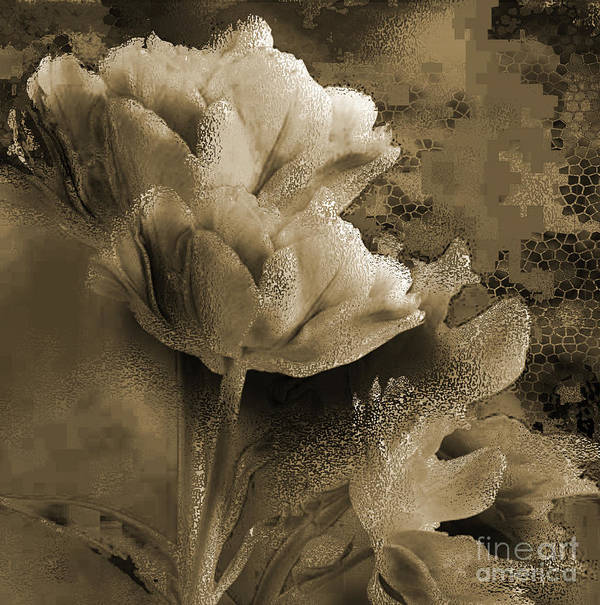 Print featuring the mixed media Elegance by Yanni Theodorou