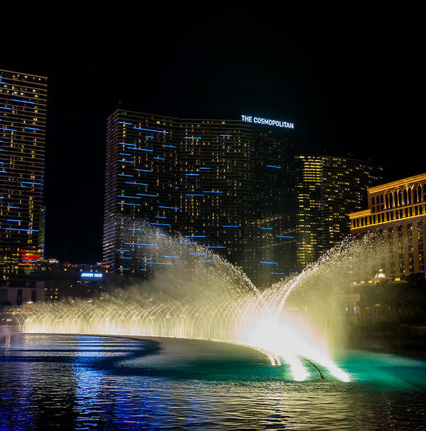 Bellagio Print featuring the pyrography Fountain Spray by Zachary Cox