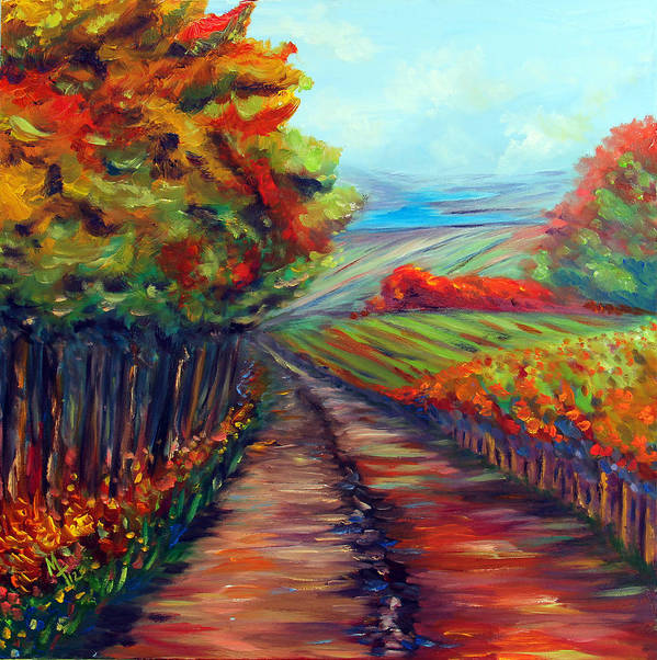 Landscape Print featuring the painting He Walks With Me by Meaghan Troup