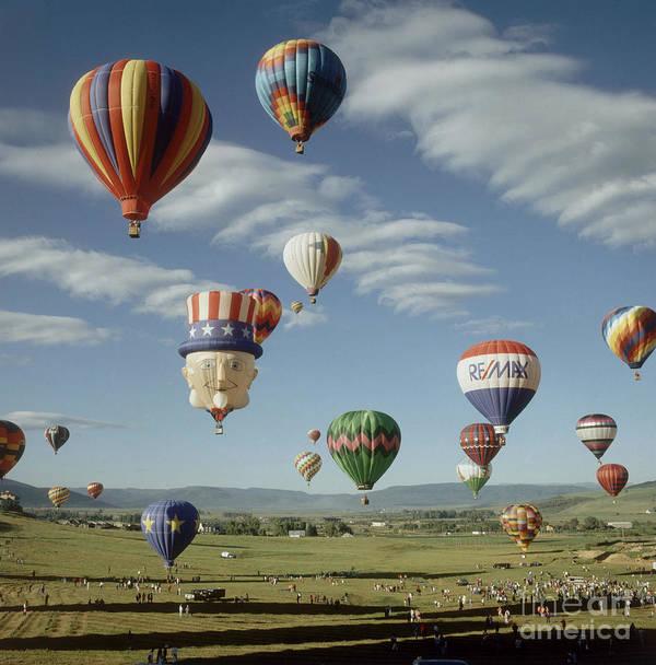 Hot Air Balloon Print featuring the photograph Hot Air Balloon by Jim Steinberg
