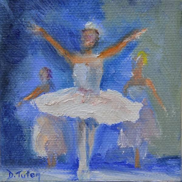 Ballet Print featuring the painting Nutcracker Ballet by Donna Tuten