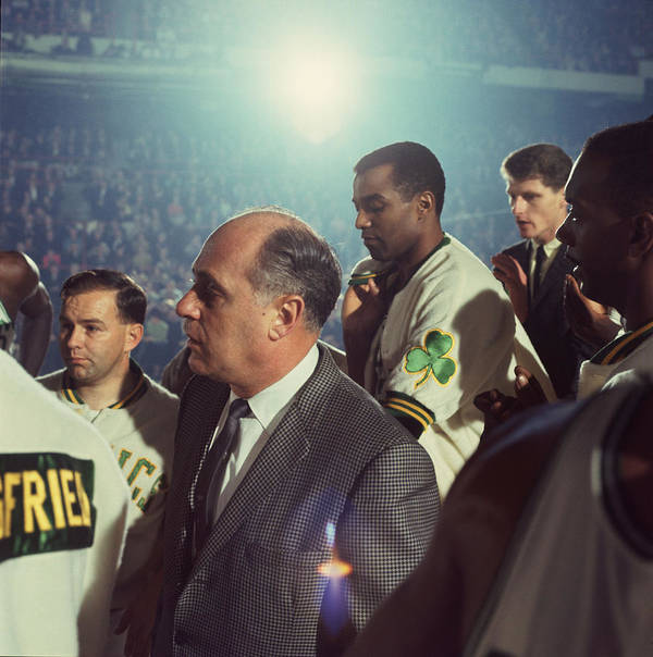 Classic Print featuring the photograph Red Auerbach Boston Celtics Legend by Retro Images Archive