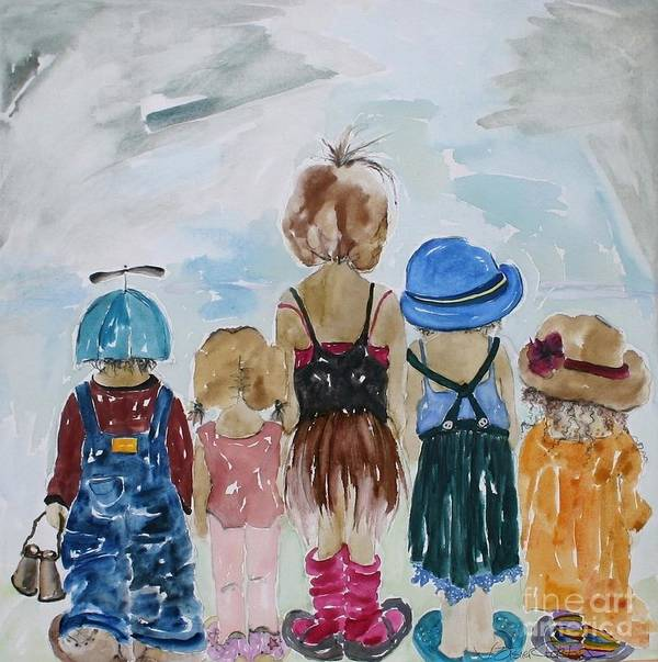 Vicki Aisner Porter Print featuring the painting Respectively Dedicated To Childhood by Vicki Aisner Porter