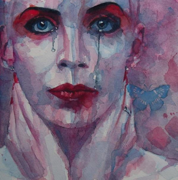 Annie Lennox Print featuring the painting This Is The Fear This Is The Dread These Are The Contents Of My Head by Paul Lovering