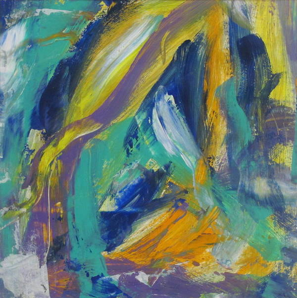 Abstract Print featuring the painting Tropicana 2 by Anita Burgermeister