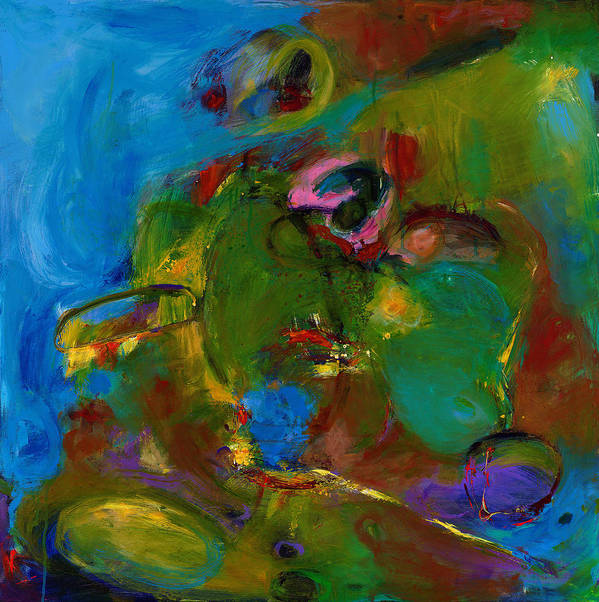 Abstract Expressionistic Print featuring the painting Day Expressing Dawn by Johnathan Harris
