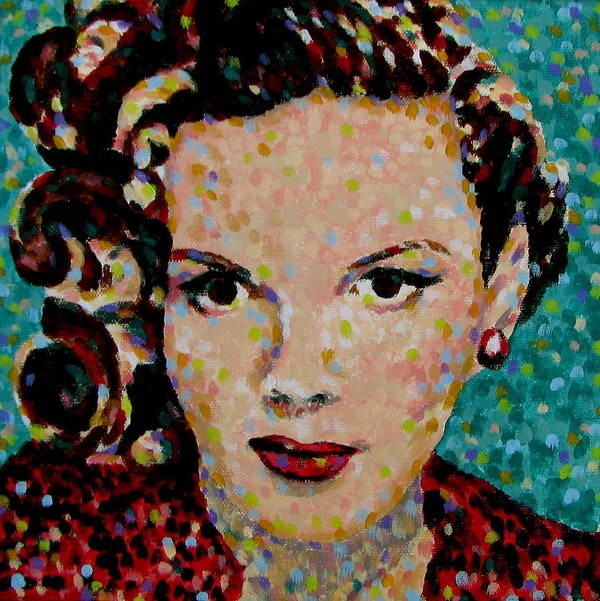 Judy Garland Print featuring the painting Judy by Denise Landis