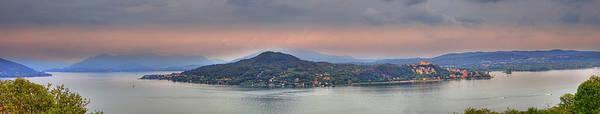 Lago Maggiore Print featuring the photograph Panorama Lake Maggiore by Joana Kruse