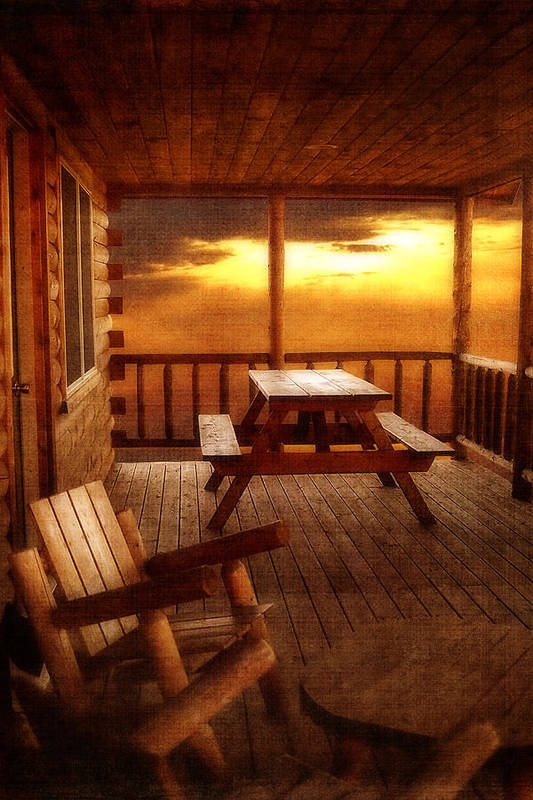 Cabin Print featuring the photograph The Cabin by Joann Vitali