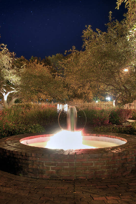 Prescott Park Print featuring the photograph Prescott Park Fountain by Joann Vitali