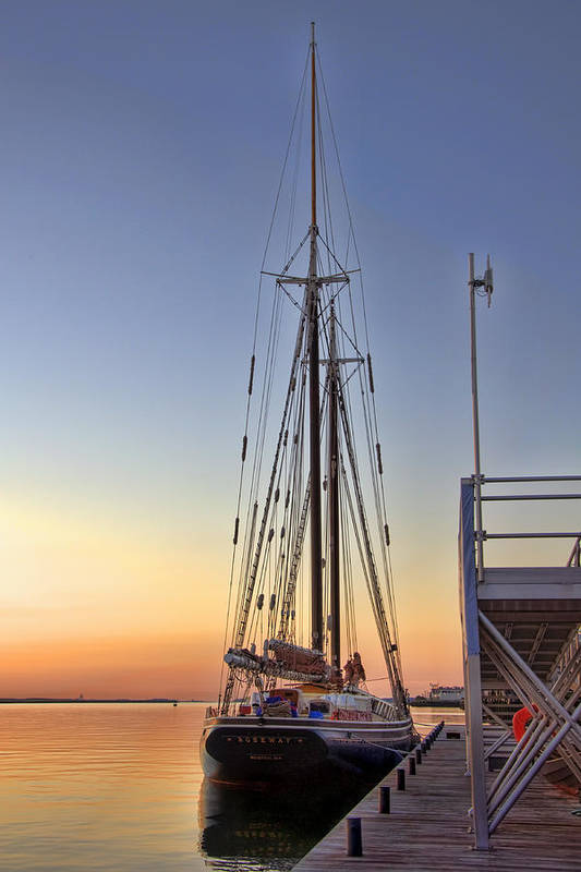 Sailing Print featuring the photograph Roseway by Joann Vitali