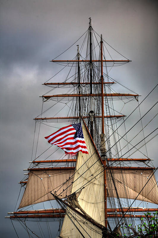 California Print featuring the photograph Star Of India Stars And Stripes by Peter Tellone
