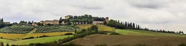 2005 Print featuring the photograph Ville Di Corsano Near Siena - Tuscany Italy by Karen Stephenson