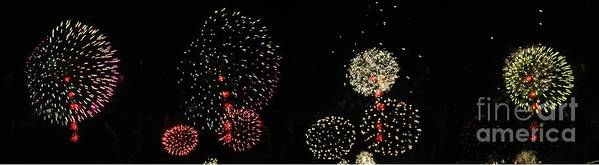 Opsail Print featuring the photograph Firework Lifecycle 3 by Meandering Photography
