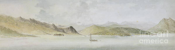 Lago Print featuring the painting Lago Maggiore by Charles Gore