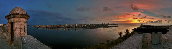 Cuba Havana Panoramic View Print featuring the photograph Panoramic View Of Havana From La Cabana. Cuba by Juan Carlos Ferro Duque