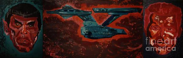 Star Trek Print featuring the photograph Star Trek Triptec by David Karasow