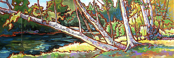 Swimming Hole Print featuring the painting Redstone Swimmimg Hole by Nadi Spencer