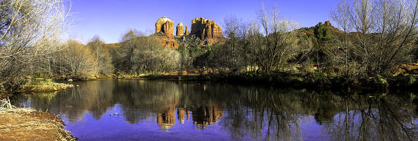 Arizona Print featuring the photograph Panorama At Red Rocks Crossing In Sedona Az by Teri Virbickis