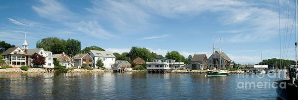 Maine Print featuring the photograph Kennebunkport Maine by Jim Chamberlain