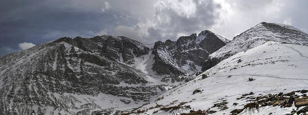 Longs Peak Print featuring the photograph Longs Meeker And Lady Washington by Aaron Spong