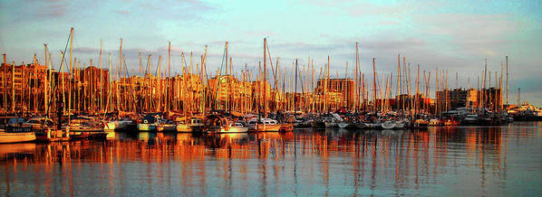 Europe Print featuring the photograph Port Vell - Barcelona by Juergen Weiss