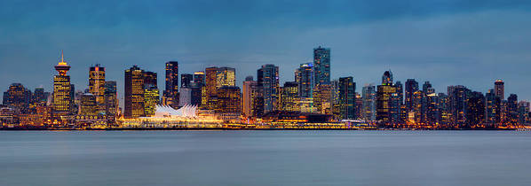 Vancouver Print featuring the photograph Vancouver From Lonsdale Quay by Alexis Birkill