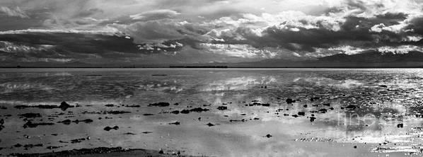 Bonneville Salt Flats Print featuring the photograph Bonneville Salt Flats Two by Isak Hanold