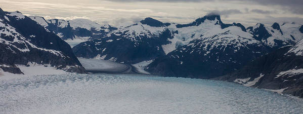 Frederick Sound Print featuring the photograph Glacial Panorama by Mike Reid