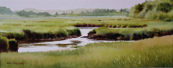 Creek Print featuring the painting Yarmouthport Marsh by Karol Wyckoff