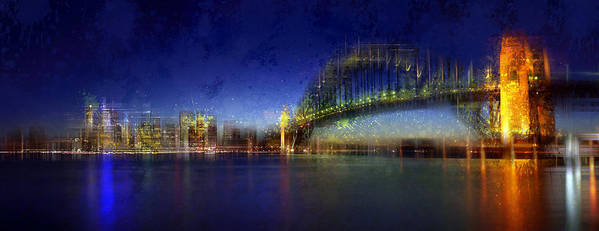 Colorspot Print featuring the photograph City-art Sydney by Melanie Viola