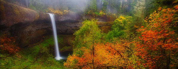 Silver Falls Print featuring the photograph Silver Falls Pano by Darren White